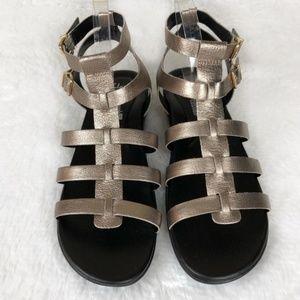 Clarks Manilla Parham Gold Gladiator Sandals 11
